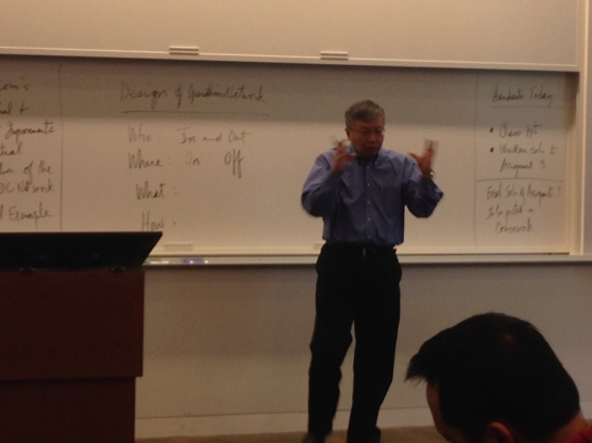 Prof Hau Lee –look how fast those hands are moving!